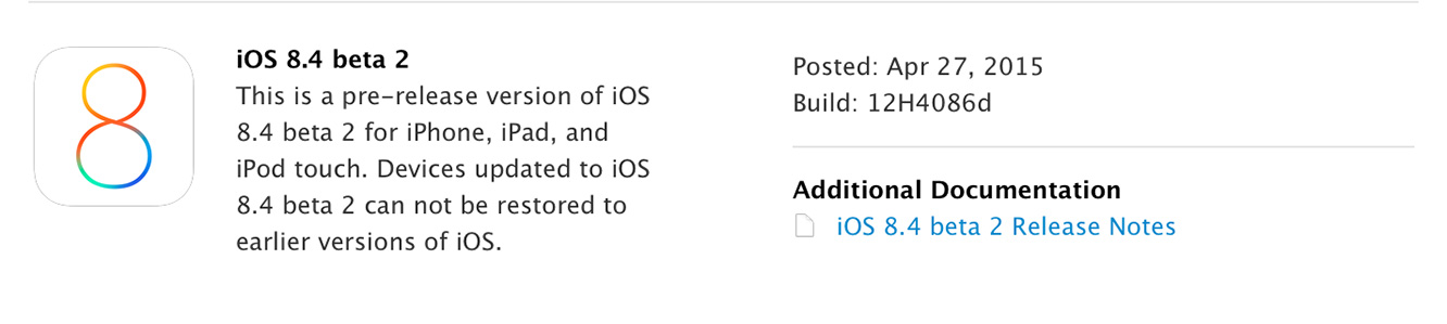 Apple releases second iOS 8.4 beta to developers