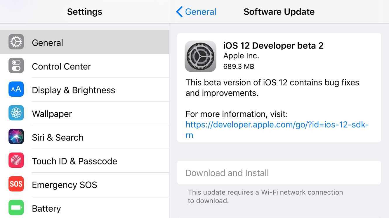 Apple releases second developers betas for iOS 12, tvOS 12