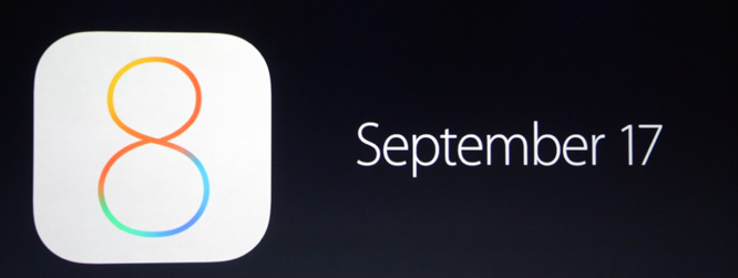 Apple sets iOS 8 release date