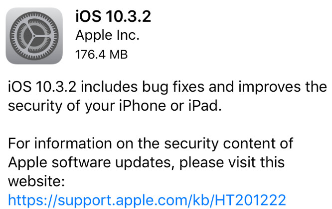 Apple releases iOS 10.3.2, tvOS 10.2.1, watchOS 3.2.2, iTunes 12.6.1