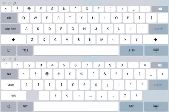 iOS 9 keyboard hints at 'iPad Pro' 1