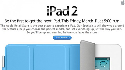 Apple e-mail tries to create iPad 2 lines 1
