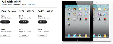 iPad 2 now available for order online 1