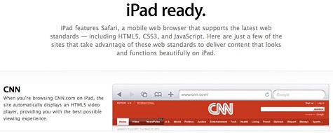 Apple lists iPad-ready websites 1