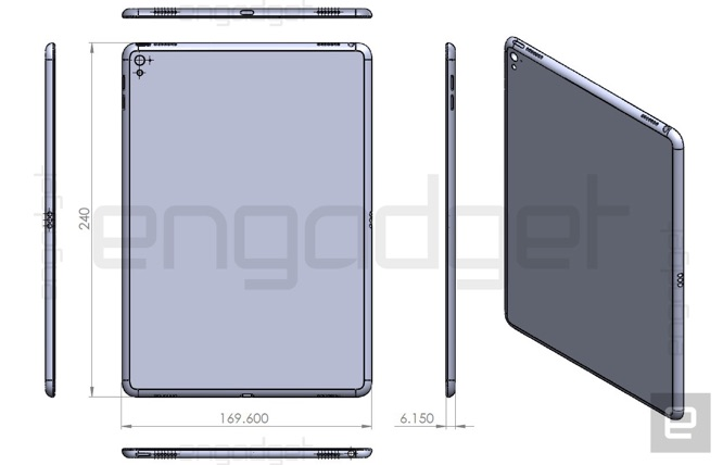 Alleged iPad Air 3 drawing shows Smart Connector, four speakers, camera flash 1