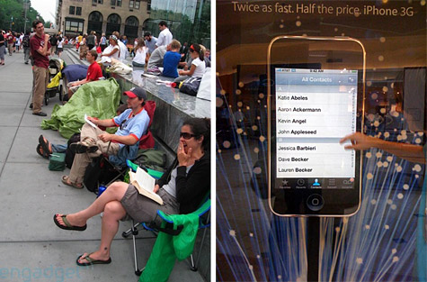 iPhone 3G queue forms in NYC, display details emerge 1