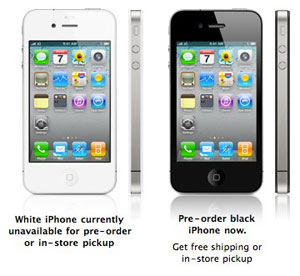 iPhone 4, 8GB iPhone 3GS pre-orders open, minus white [updated] 1