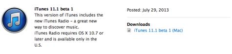 Apple releases iTunes 11 developer beta with iTunes Radio 1