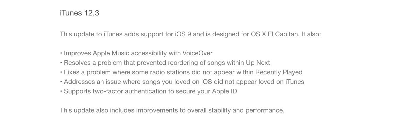 Apple releases iTunes 12.3