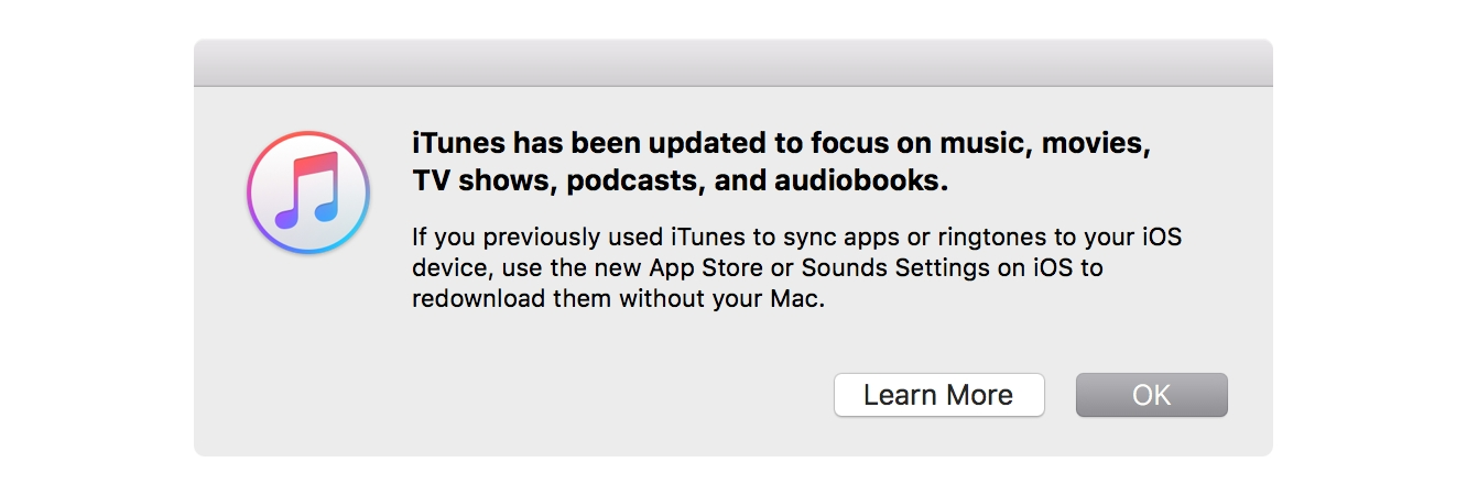With version 12.7, however, iTunes returns to its roots as a media  management application. All support for the App Store and managing apps on  an iPhone, ...