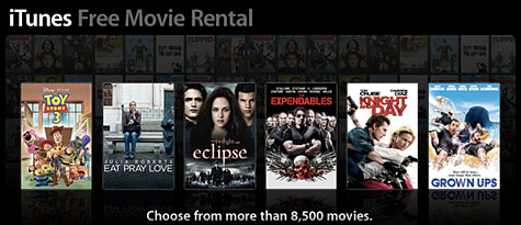 Apple sending out free iTunes Movie Rental codes? 1