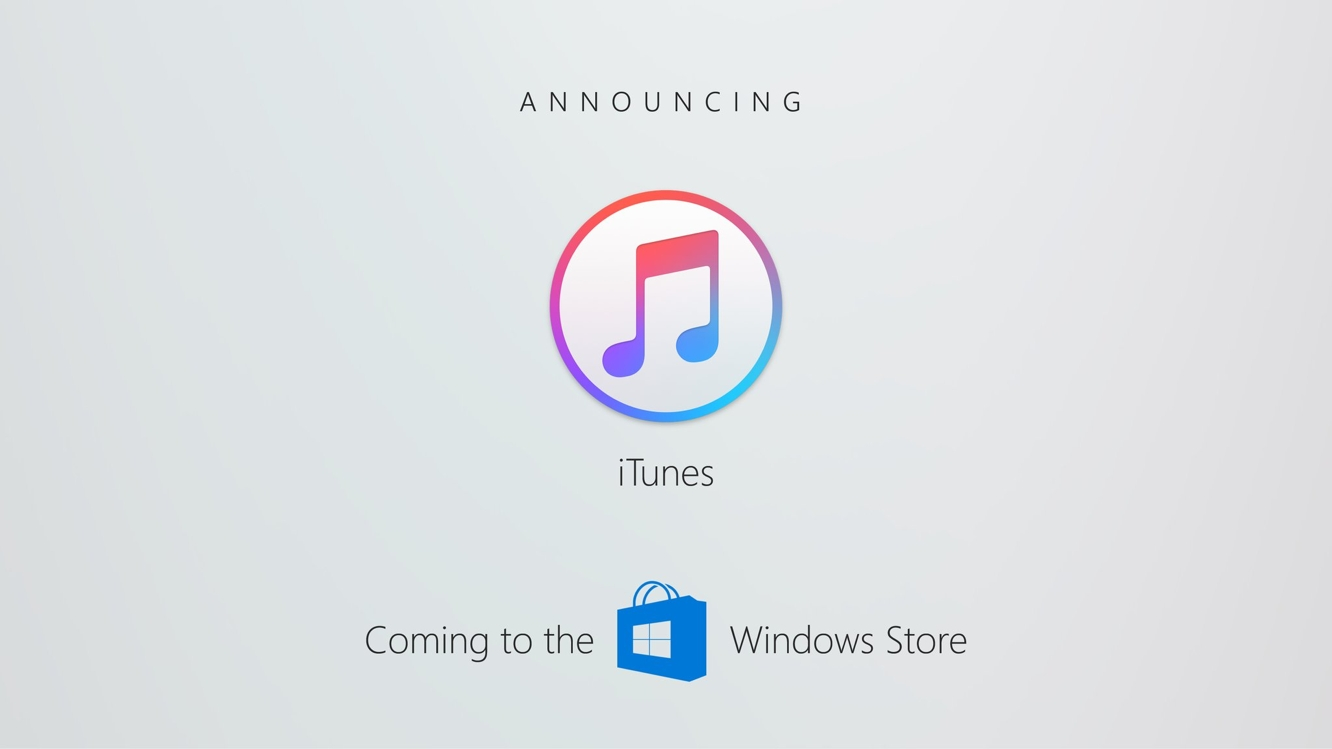iTunes not making it into the Microsoft Store this year 1