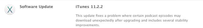 iTunes 11.2.2 update issued