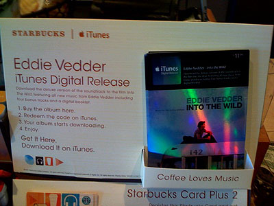Starbucks' iTunes Digital Releases and Plus 2 Cards 1