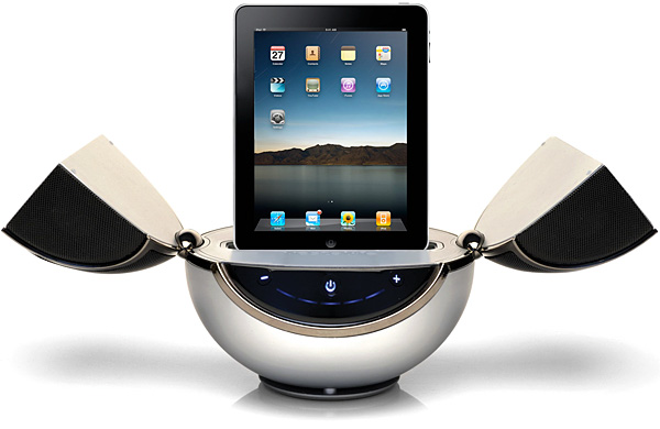 Vestalife debuts first iPad speaker system, revised Mantis