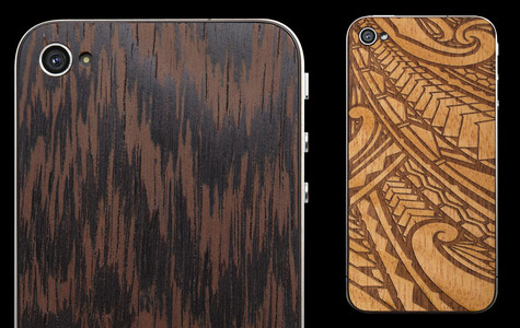 MaterialSix offers wooden back plates for iPhone 4/4S 1