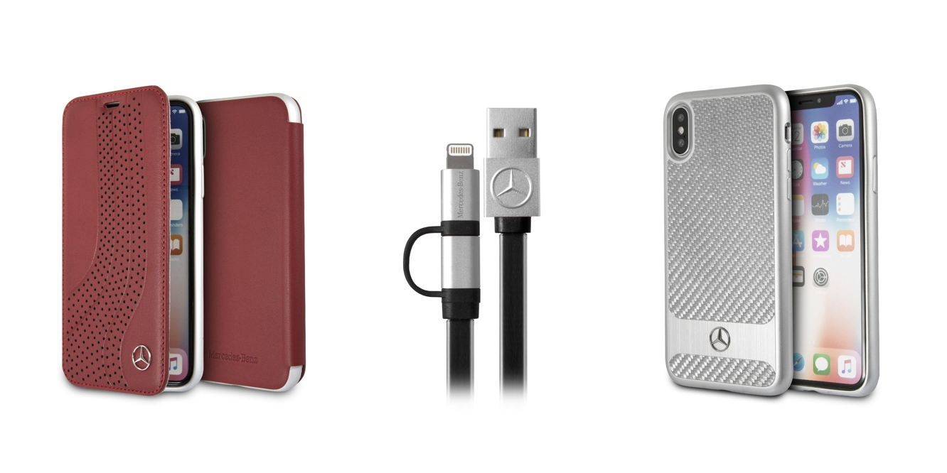 Mercedes unveils lineup of branded iPhone accessories