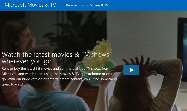Microsoft bringing Windows Movies & TV to iOS