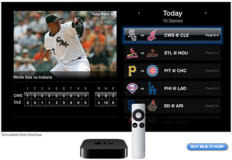MLB.tv coming to second-generation Apple TV 1