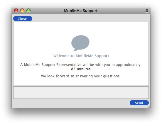 ipad support chat