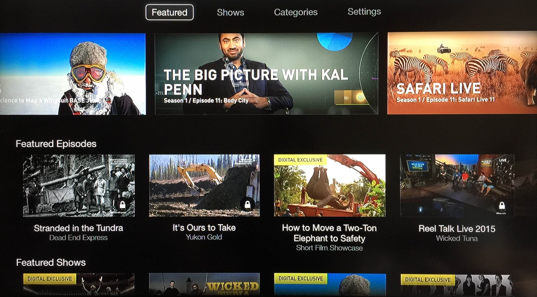 Apple TV adds NatGeo TV channel 1