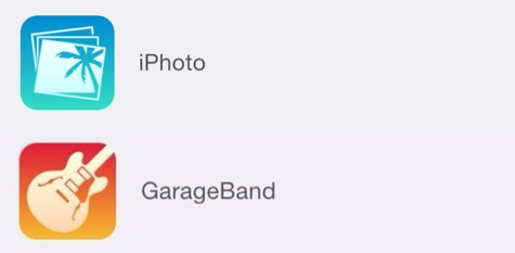 New iPhoto, GarageBand icons suggest iOS 7 redesigns 1