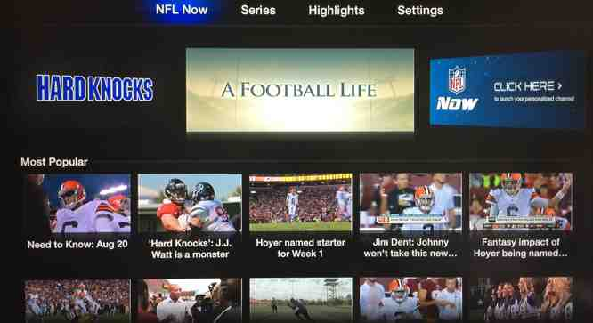 NFL Now channel comes to Apple TV
