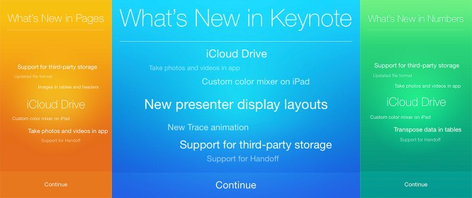 Apple updates Pages, Numbers, Keynote for iCloud Drive