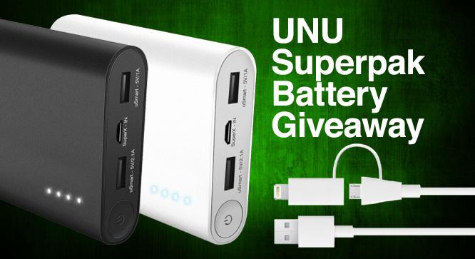 Unu Superpak Battery Giveaway - Winners Announced 25