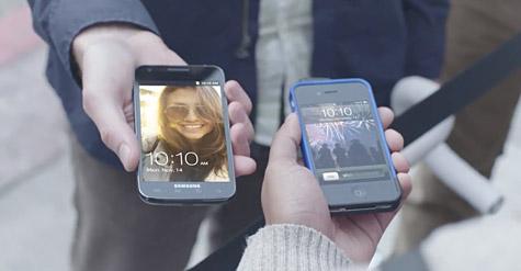 Samsung parodies iPhone lineups in new Galaxy ad 1