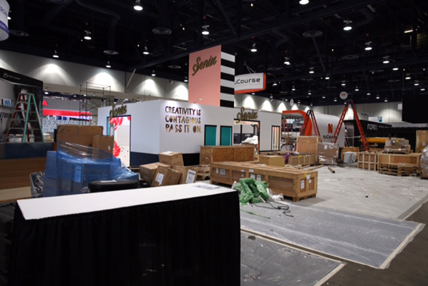 iLounge Pavilion Pre-Show Setup Photos, North Hall