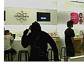 iPod silhouette guy dances at Apple Store 1
