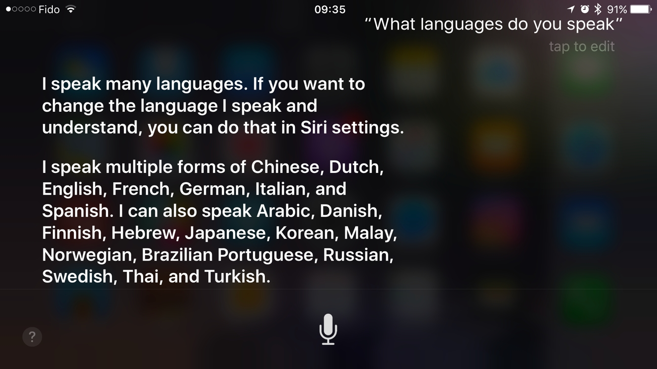 Siri leads voice assistants in language support 1