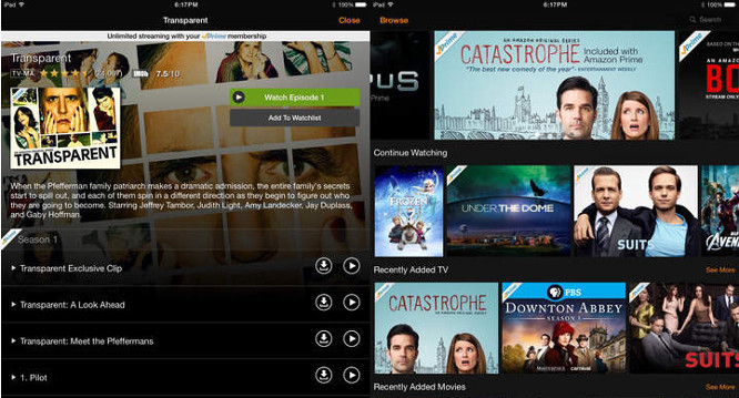 Amazon Video app update lets Prime users download movies, TV shows for offline viewing