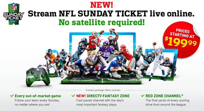 NFL Sunday Ticket to stream on iPad, iPhone with no satellite subscription (Update) 1