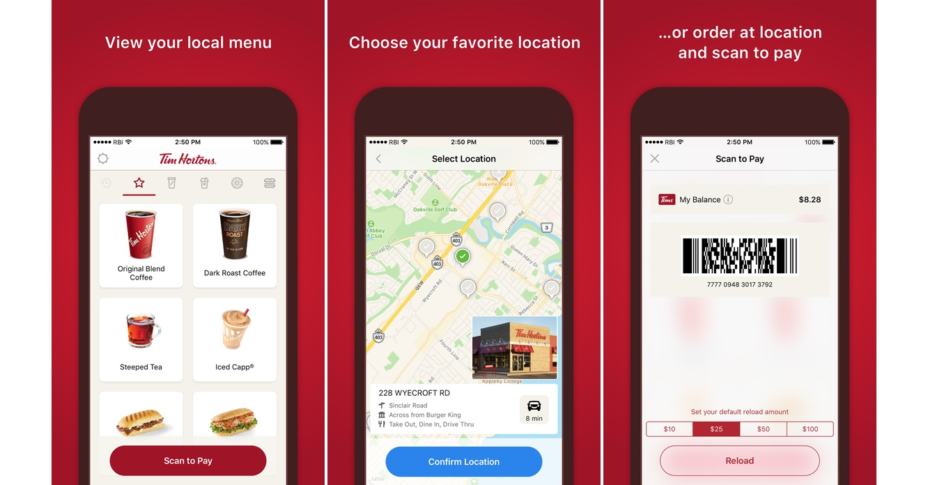 Tim Hortons launches Mobile Order and Pay, with Apple Pay support