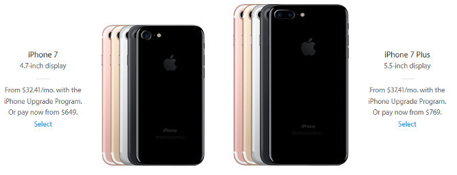 Stock of iPhone 7, iPhone 7 Plus expanded for iPhone Upgrade Program members, call-backs ongoing