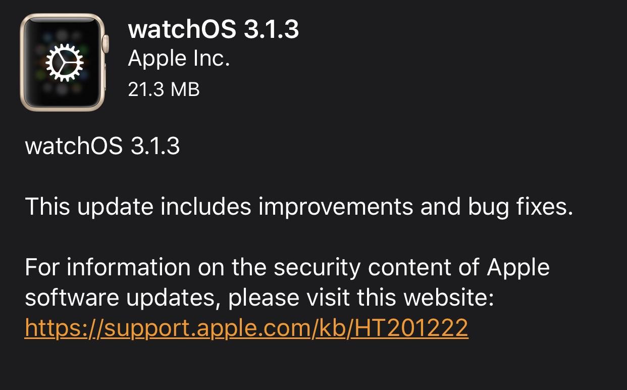 Apple releases tvOS 10.1.1, watchOS 3.1.3 24