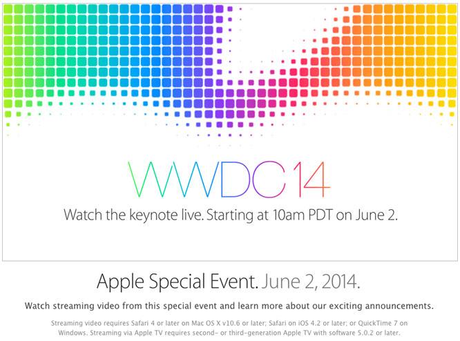 Apple to livestream 2014 WWDC keynote 1